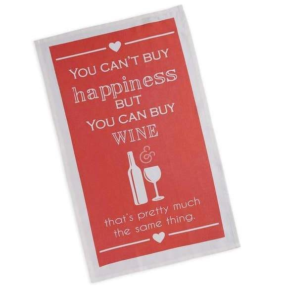 Dish Hand Towel You Can't Buy Happiness But Wine